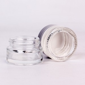 10ml round clear glass cosmetic cream jar for eye cream