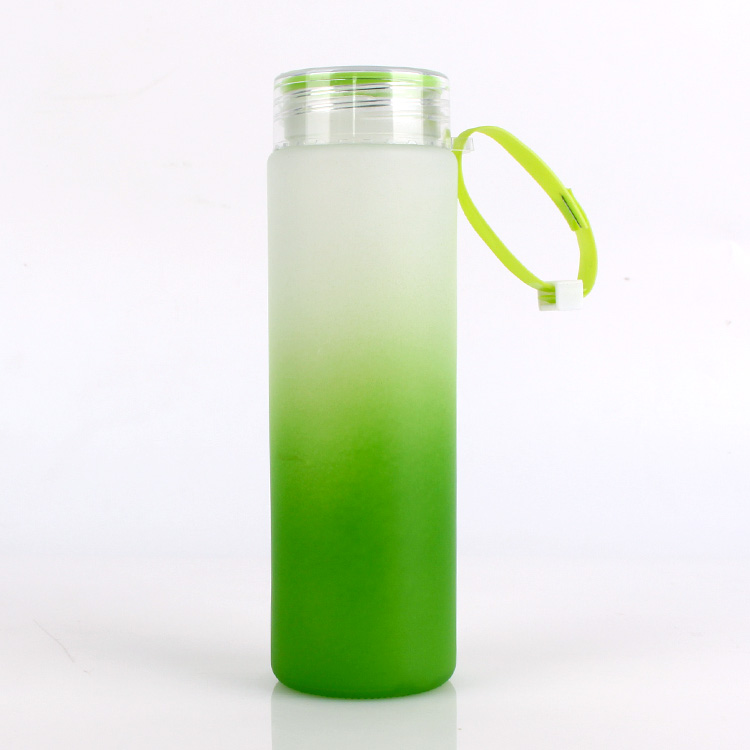400ml water glass bottle for drinking with lids