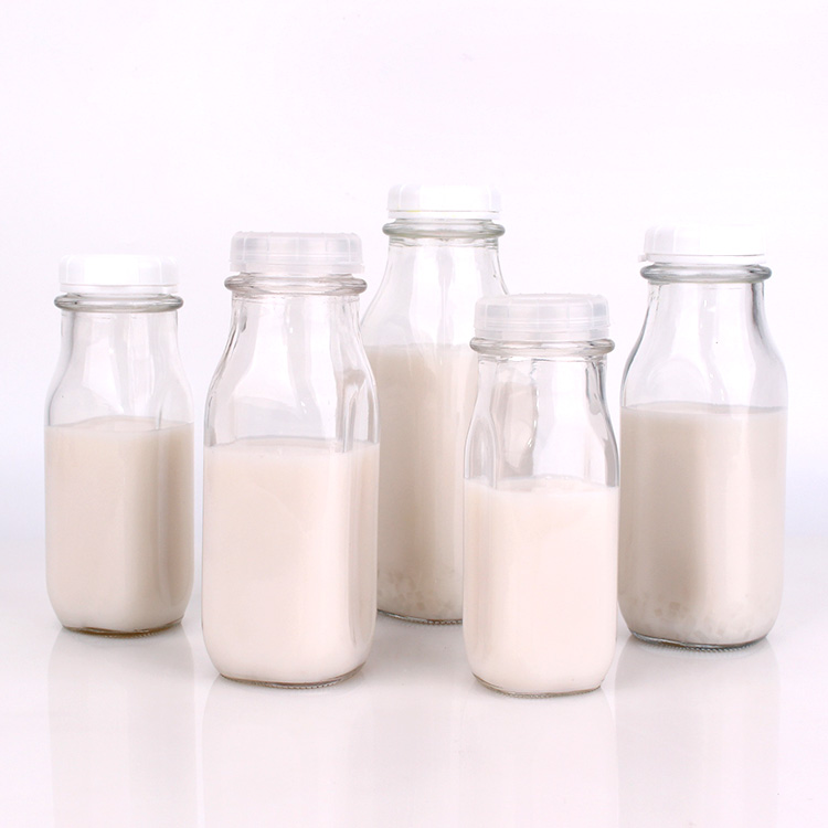 Wholesale empty 240ml 360ml 400ml 500ml 930ml 1liter glass bottles for milk