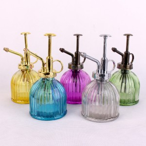 Custom colorful liquid soap glass bottle with Stainless Steel Pump