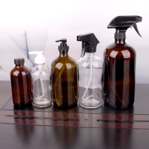 In-stock 500ml 1000ml glass hand sanitizershampoo bottle with painting