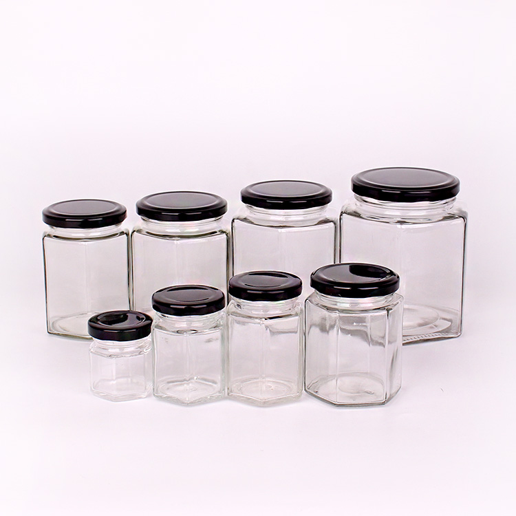 hexagon honey jar cheap glass jars wholesale with factory price Featured Image