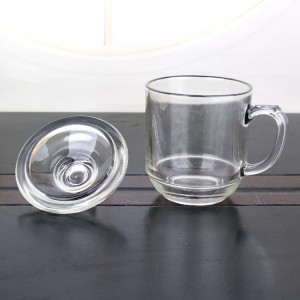hot sell 300ml glass coffee mug tea glass cup for drinking with handle