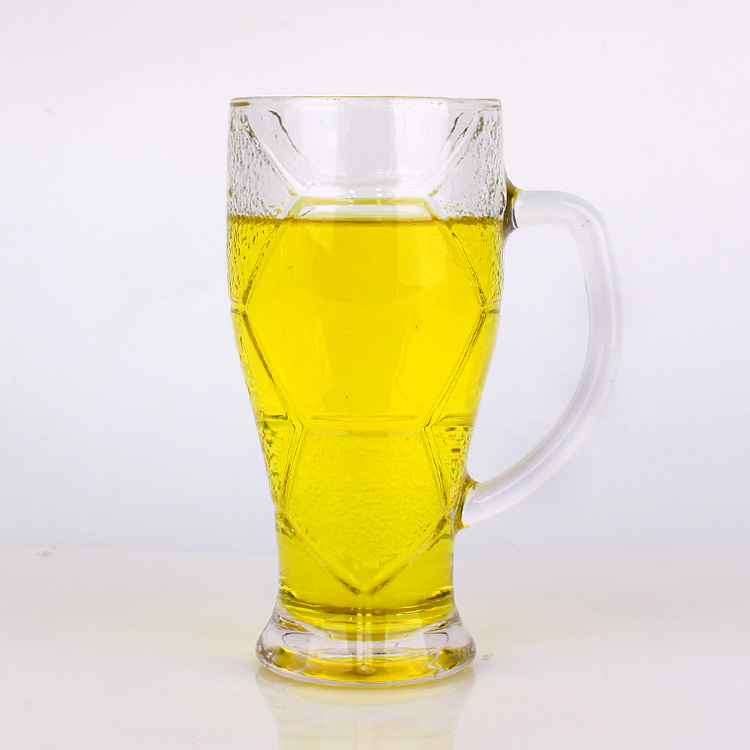 Funny design football design glass cups for drinking beer 620ml 420ml Featured Image