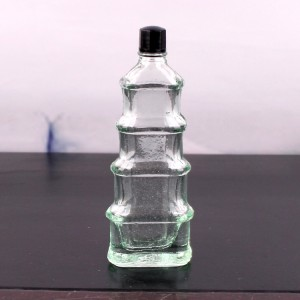 10ml 20ml pagoda shape glass essential oil medicine bottle with screw cap