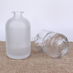 Wholesale empty frosted glass bottle 100ml 250ml reagent glass bottle for laboratory with cork