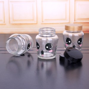 150ml Customised logo glass pickle jar with plastic lid