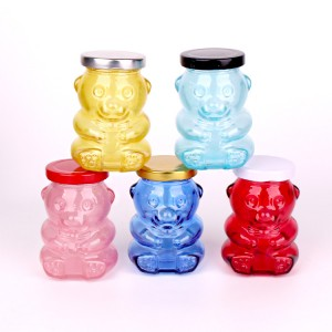 lolli and pops bear glass jar glass candysweetlollipop bear jar 180ml 280ml