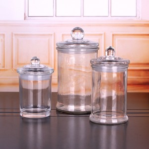 11oz empty candle glass jar with glass lid sealed