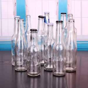 empty clear glass bottles for beer 500ml