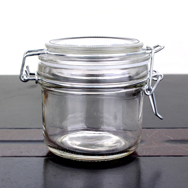 custom design round candy glass jar clip lid glass jar Featured Image