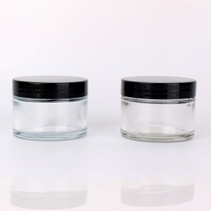 100ml eco friendly Straight Sided Glass Cosmetic Containers With Lids