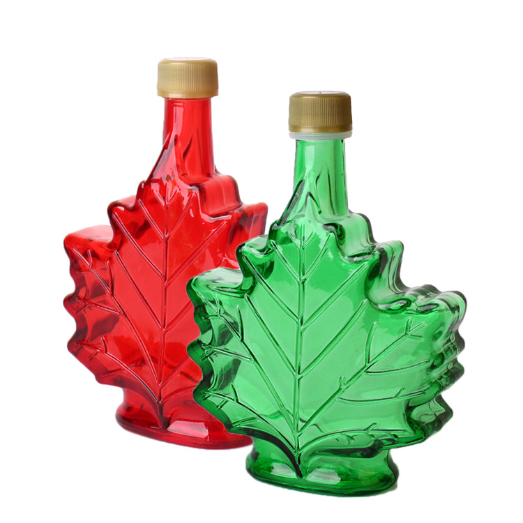 Factory Price 50ml 100ml 250ml canada maple syrup glass bottle with plastic screw cap Featured Image