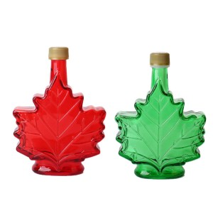 100ml Maple leaf glass bottles with lid
