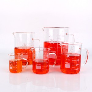 Wholesale and custom Lab Quality Borosilicate Glass 50 100 150ml Graduated Laboratory Beaker Shot Glasses