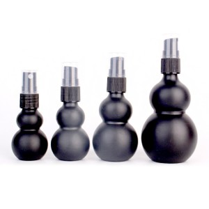 Matte surface skincare body oil glass bottle with screw cap
