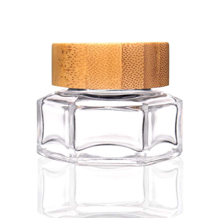 30ml chinese factory 50ml skincare glass jar with bamboo lid Featured Image