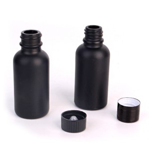 30ml Set of 7 black glass spray bottles for essential oils with sprayers pump lid
