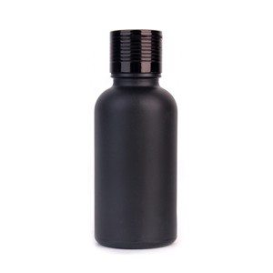 Fashion 30ml matte black glass bottles for essential oils with screw lid