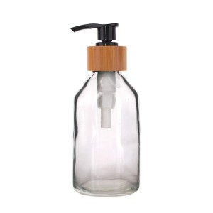 115ml High quality Clear Glass Liquid Soap Dispenser with Pump