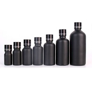 black cosmetic container lotion glass bottles with black fine mist sprayers