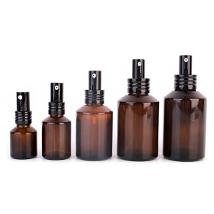 Factory price 15ml amber cosmetic glass bottle
