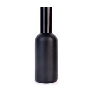 100ml Set of 7 black glass spray bottles for essential oils with sprayers pump lid