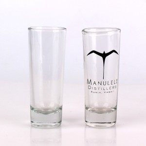 Transparent glass juice water tall glass cup 2oz