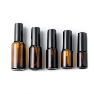 10ml 15ml 20ml 30ml 50ml round amber perfume glass essential oil spray bottle