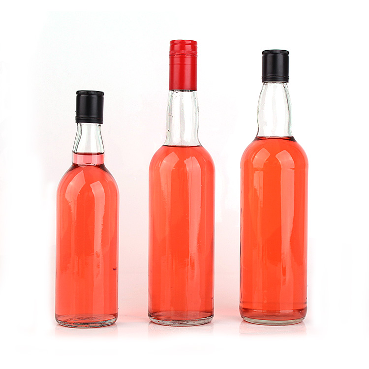 Wholesale empty 460ml 620ml 690ml glass wine bottle for liquor spirits alcohol with metal cap