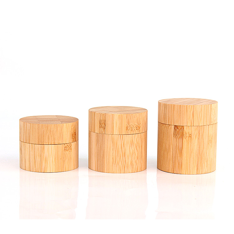 custom eco friendly 45ml 60ml 90ml wooden bamboo cosmetic skin care packaging bottle jar container