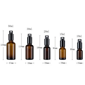 Empty High Quality 10ml 15ml glass perfume diffuser bottle spray