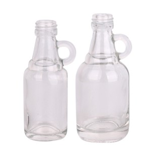 Mini empty 30ml 50ml beverage wine liquor Vodka glass bottle with screw lid