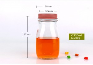 330ml glass cold-pressed juice bottle metal cap sealed