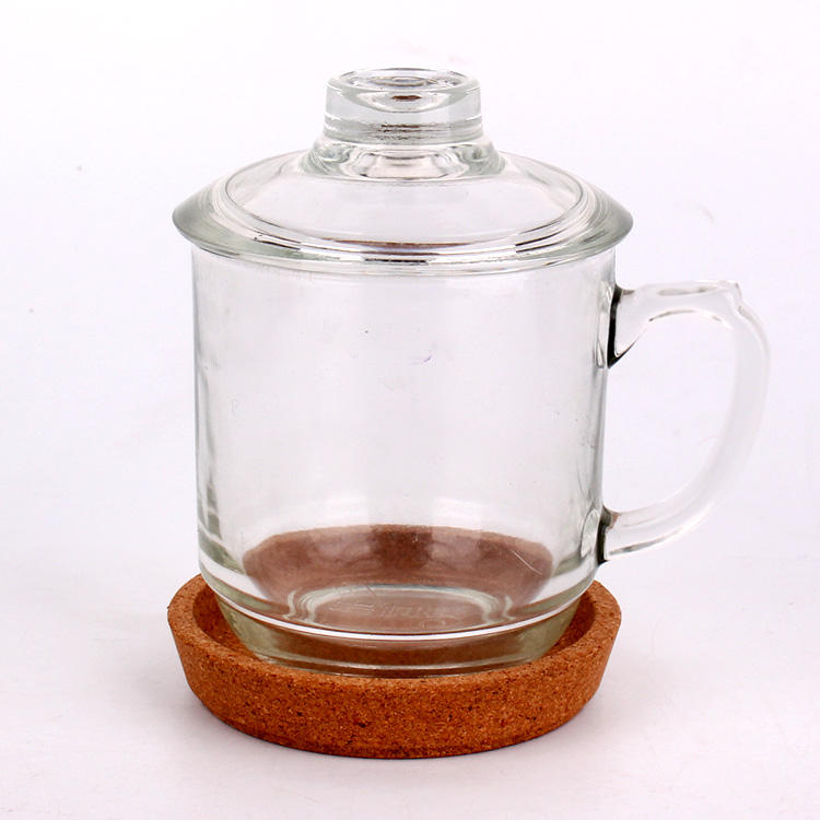 hot sell 300ml glass coffee mug tea glass cup for drinking with handle Featured Image