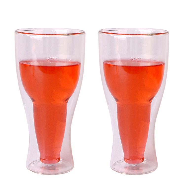 400ml double wall borosilicate glass cup for wine/beer Featured Image
