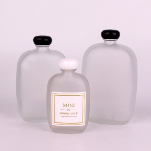 110ml 250ml frosted glass beer bottle wine juice bottle with black lid