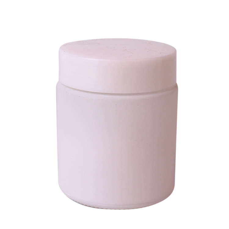 100ml White coating cylinder glass jar with plastic lid Featured Image