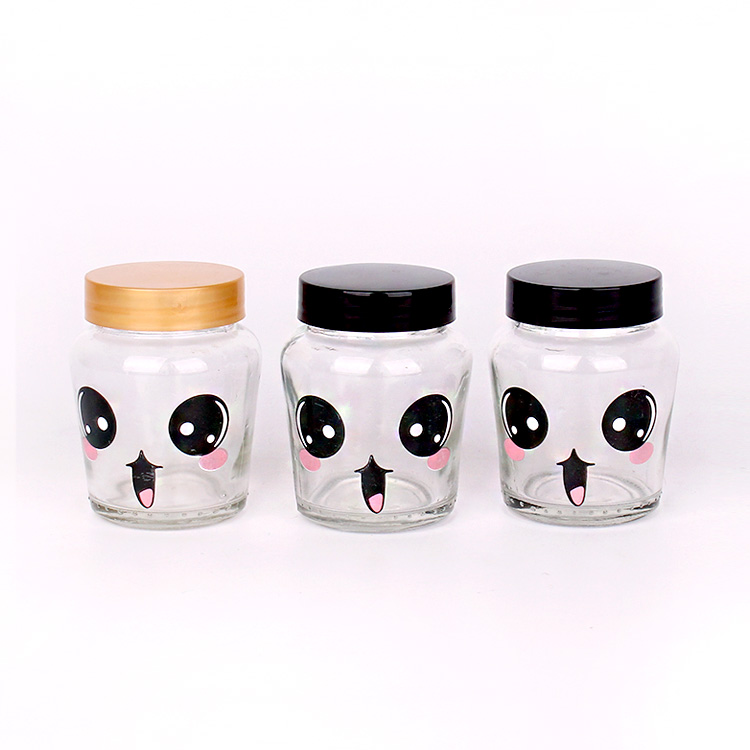 150ml Customized alama kioo kachumbari jar kifuniko kikiwa plastiki