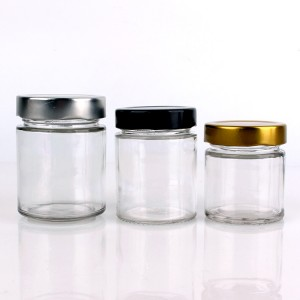 Best Price for Glass Spice Jar - new cylinder 120ml 160ml 220ml 330ml 400ml 580ml glass jar – Yanjia