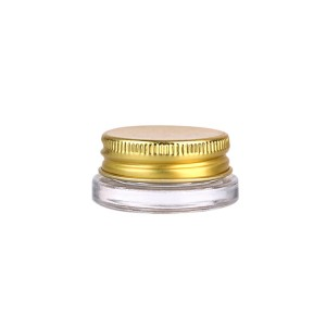 7ml glass jar for cosmetic cream with screw aluminum lid