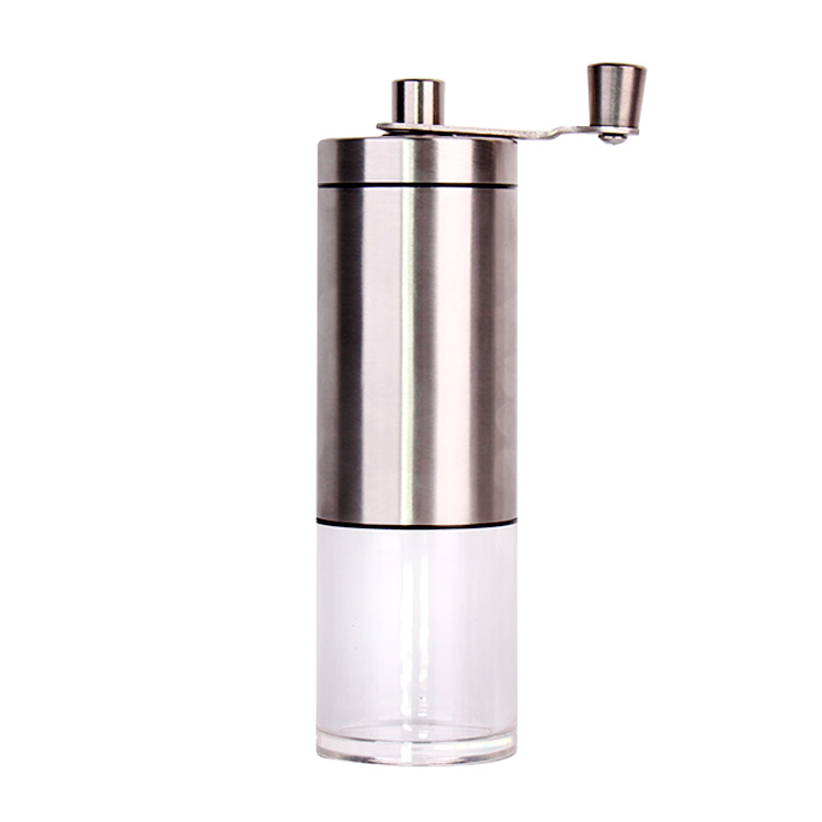 Portable Coffee Bean Grinder Mill With Stainless Steel Handle Adjustable Ceramic Burr