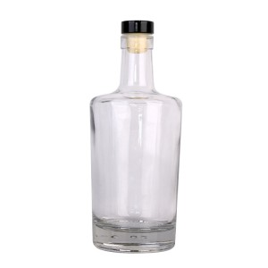 750ml high quality wine vodka glass bottle with stopper lid