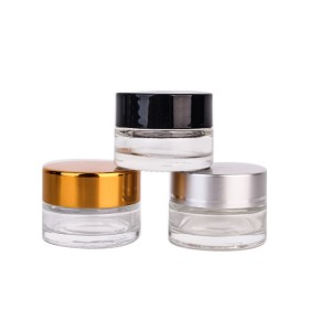 10ml round clear glass cosmetic cream jar for e...