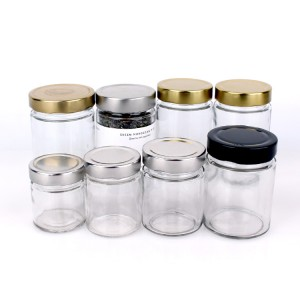 hot sell 120ml 4oz glass jar for honey jam food storage with deep tin lid