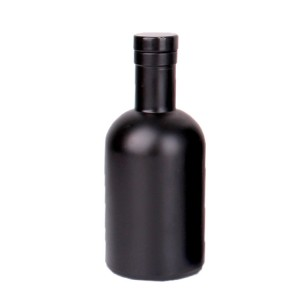 200ml matte black round vodka glass wine bottle with stopper