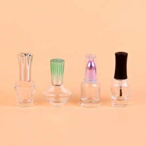 8ml 9ml 10ml custom design empty clear mini glass nail polish bottle wholesale