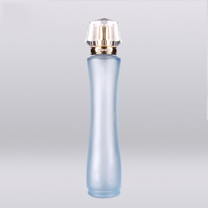 100ml China supplier fancy cylinder custom design brand frost glass empty perfume oil bottles