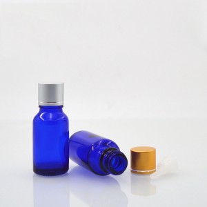 China factory 10ml essential oil bottle coalt blue screw plastic tamper child proof dropper cap with orifice