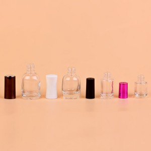 11ml 12ml Clear unique crystal cap empty glass custom made nail polish bottle